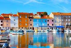 Vecchia città di Istrian in Novigrad, immagine stock libera da diritti