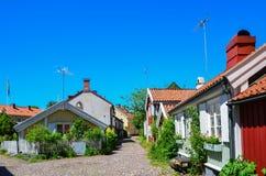 Vecchia città di Kalmar Fotografia Stock Libera da Diritti