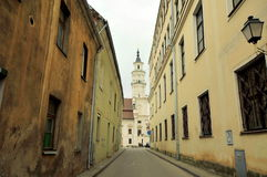 Vecchia città di Kaunas, Lituania Fotografie Stock