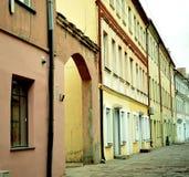 Vecchia città di Kaunas, Lituania Fotografia Stock Libera da Diritti