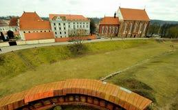 Vecchia città di Kaunas, Lituania Fotografie Stock Libere da Diritti