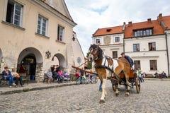 Vecchia città di Kazimierz Dolny in Polonia Fotografia Stock Libera da Diritti