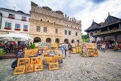 Vecchia città di Kazimierz Dolny in Polonia Immagine Stock