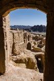 Vecchia città di Kharanaq nell'Iran Immagini Stock