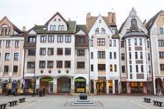 Vecchia città di Kolobrzeg, Polonia immagini stock
