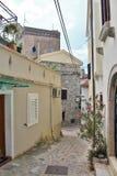 Vecchia città di Krk Fotografie Stock