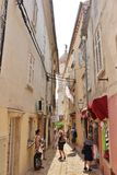 Vecchia città di Krk Immagini Stock Libere da Diritti