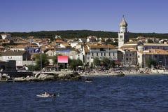 Vecchia città di Krk, Croatia Fotografia Stock Libera da Diritti