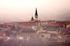 Vecchia città di Levoca nel centro urbano Fotografie Stock