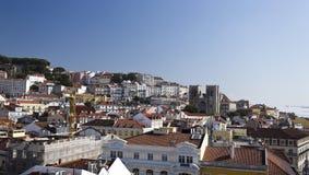Vecchia città di Lisbona Immagini Stock