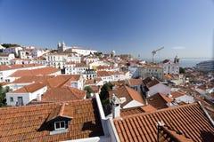 Vecchia città di Lisbona Immagine Stock Libera da Diritti