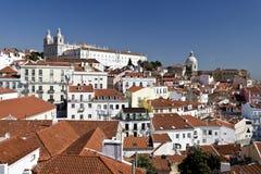 Vecchia città di Lisbona Fotografia Stock Libera da Diritti