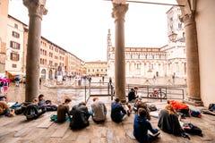 Vecchia città di Lucca Fotografia Stock