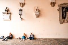 Vecchia città di Lucca Immagini Stock