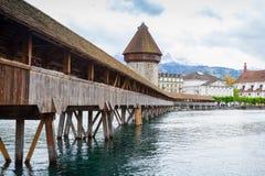 Vecchia città di Lucerna, Svizzera centrale Fotografia Stock