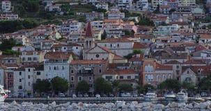 Vecchia città di Makarska Fotografia Stock