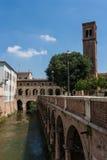 Vecchia città di Mantova Fotografie Stock