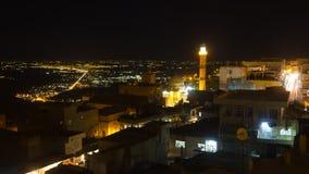Vecchia città di Mardin alla notte Immagini Stock