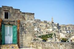 Vecchia città di Matera, Basilicata, Italia Sito del patrimonio mondiale dell'Unesco, capitale europea di cultura 2019 fotografia stock libera da diritti