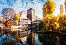 Vecchia città di Norimberga, Germania fotografia stock libera da diritti