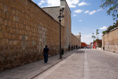 Vecchia città di Oaxaca Fotografie Stock Libere da Diritti