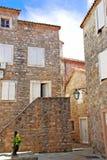 Vecchia città di pietra nel Montenegro - Budva fotografie stock libere da diritti