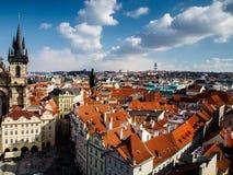 Vecchia città di Praga Immagine Stock