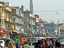 vecchia città di Rawalpindi, Pakistan fotografia stock libera da diritti