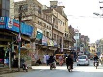 vecchia città di Rawalpindi, Pakistan fotografie stock libere da diritti