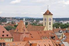 Vecchia città di Regensburg Fotografie Stock Libere da Diritti