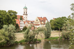 Vecchia città di Regensburg immagini stock libere da diritti