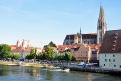 Vecchia città di Regensburg, Germania Fotografia Stock Libera da Diritti