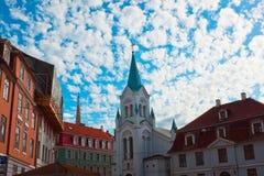 Vecchia città di Riga Immagine Stock Libera da Diritti