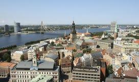 Vecchia città di Riga Immagini Stock