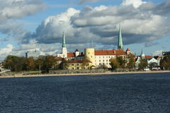 Vecchia città di Riga Fotografie Stock