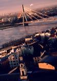 Vecchia città di Riga, Latvia Fotografia Stock