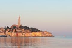 Vecchia città di Rovinj, litorale adriatico fotografia stock libera da diritti