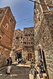 Vecchia città di Sana'a in HDR Immagine Stock Libera da Diritti