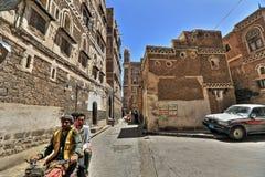 Vecchia città di Sana'a in HDR Immagini Stock