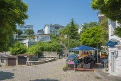 Vecchia città di Sassnitz immagini stock