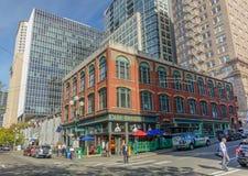 Vecchia città di Seattle immagini stock