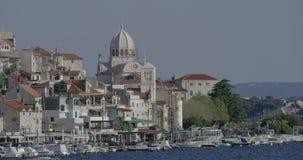 Vecchia città di Sibenik video d archivio