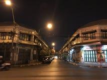 Vecchia città di silenzio a Bangkok immagine stock