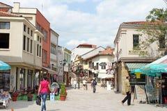 Vecchia città di Skopje fotografie stock libere da diritti