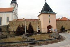 Vecchia città di Smokovec slovakia Paesaggi di inverno delle città e dei villaggi vicino alle catene montuose di alto Tatras Fotografia Stock Libera da Diritti