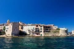 Vecchia città di St Tropez fotografia stock