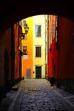Vecchia città di Stoccolma Fotografia Stock Libera da Diritti