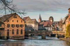 Vecchia città di Strasburgo nell'Alsazia Fotografia Stock Libera da Diritti