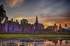Vecchia città di Sukhothai della Tailandia immagini stock libere da diritti