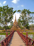 Vecchia città di Sukhothai, uno degli stupas Fotografia Stock Libera da Diritti